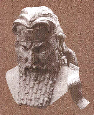 assyrian staues in museums sennekherib